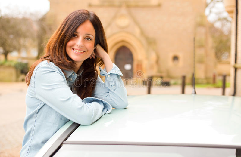водитель счастливый стоковые фотографии rf