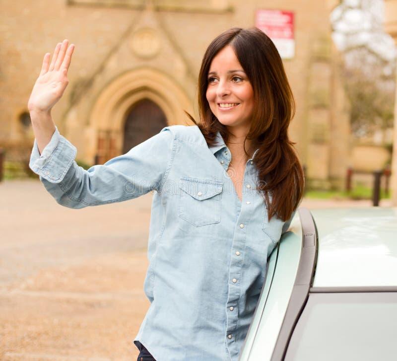 водитель счастливый стоковое изображение