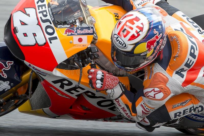 Водитель Dani Pedrosa Команда Honda стоковые изображения rf