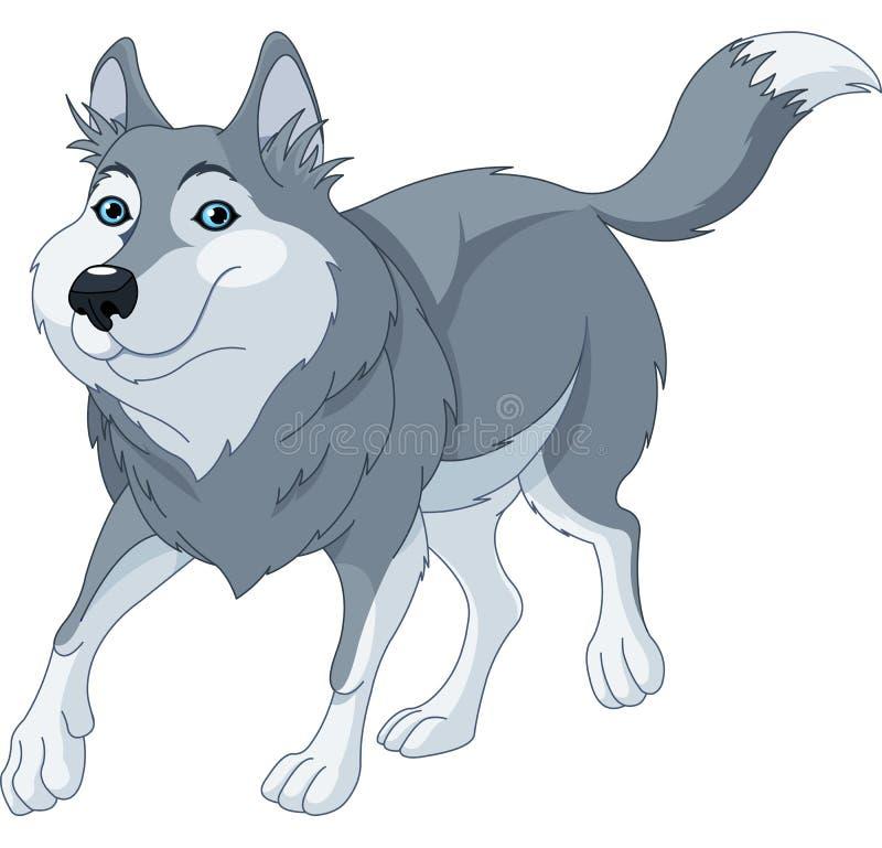Волк шаржа иллюстрация вектора
