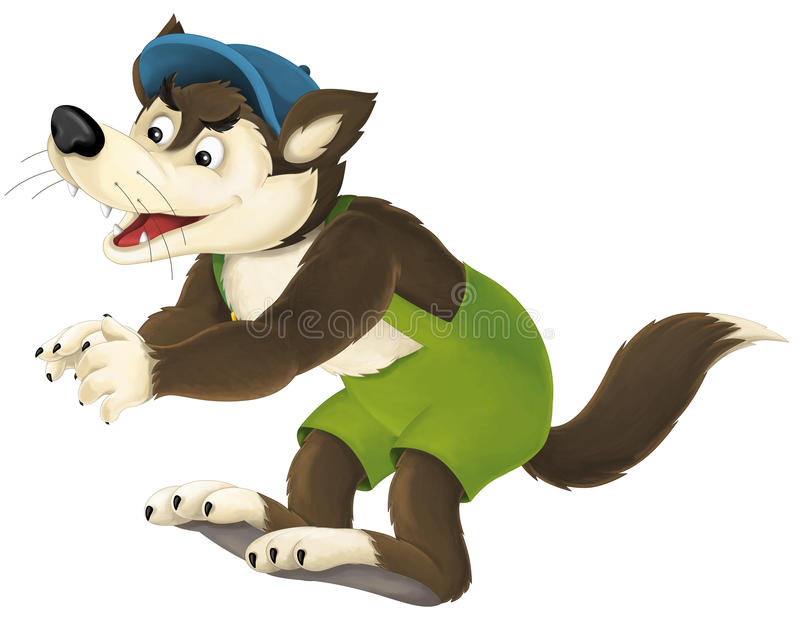Волк шаржа бесплатная иллюстрация