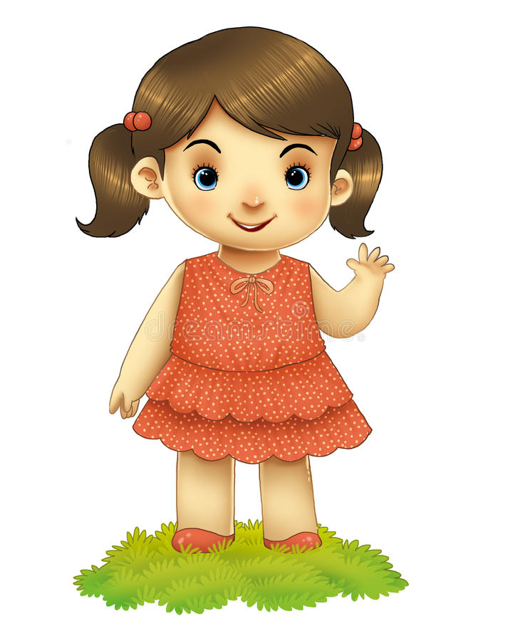 Волна девушки стоковое изображение rf