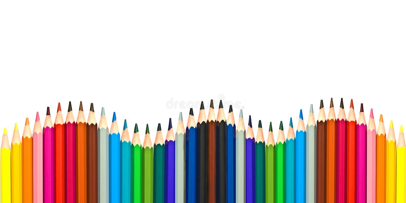 Волна красочных деревянных карандашей изолированных на белизне стоковое фото