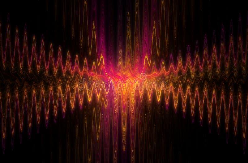 Волна перекрестка конспекта водоворотов паутины синусоидальная иллюстрация штока