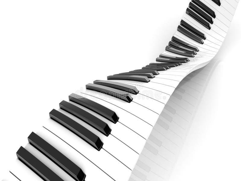 Волнистая абстрактная клавиатура рояля иллюстрация вектора