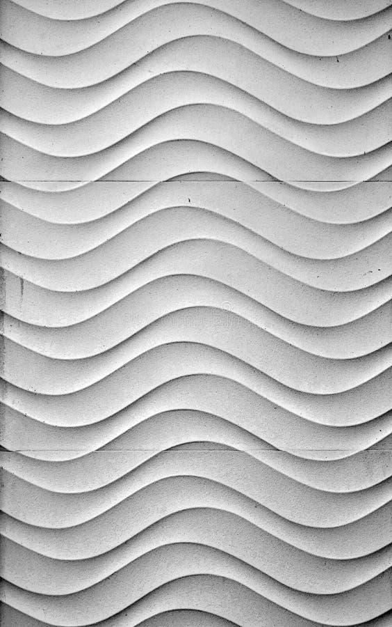 Волнистая белая стена стоковая фотография rf