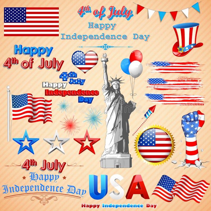 Волнистый американский флаг иллюстрация штока