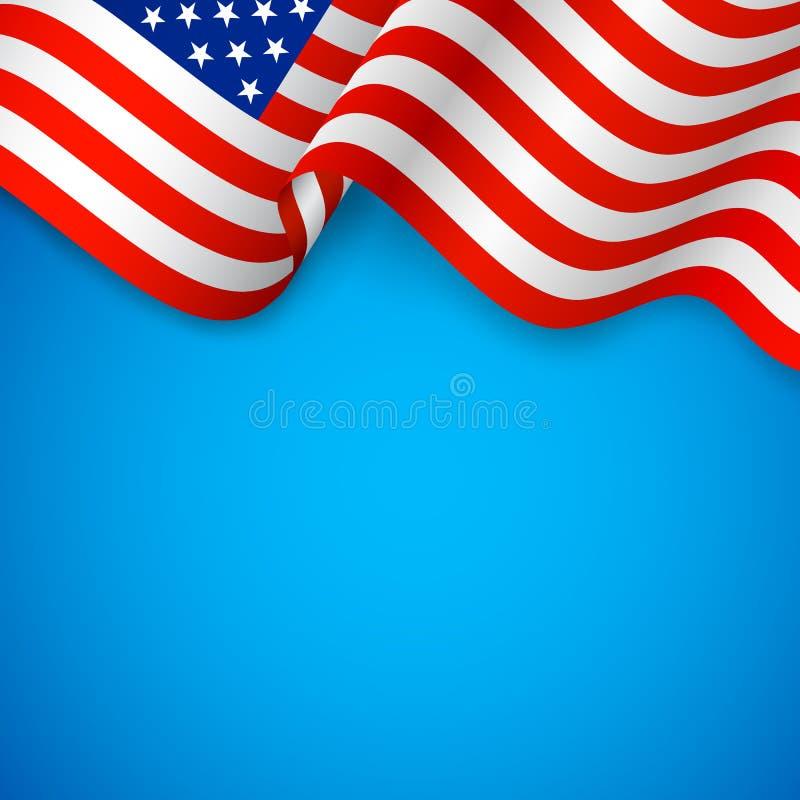 Волнистый американский флаг бесплатная иллюстрация