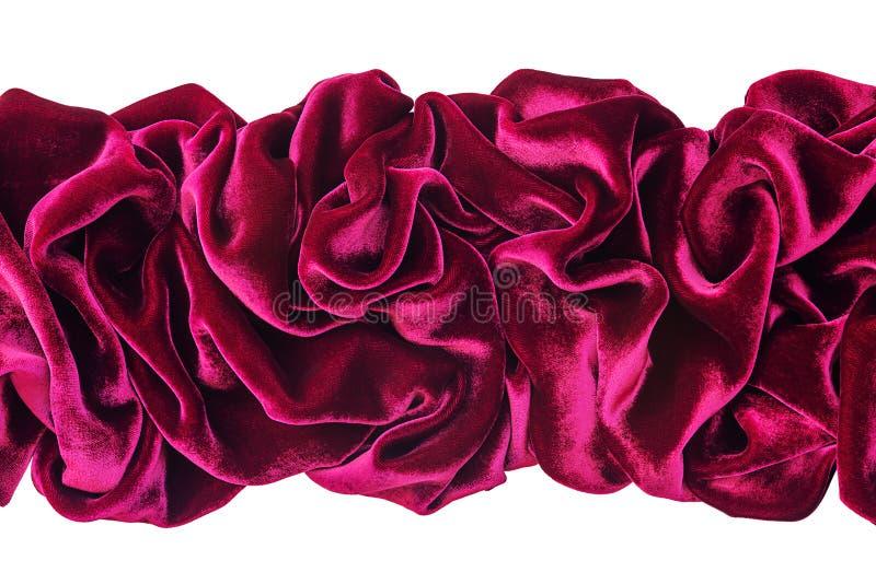 Волнистый бургундский бархат стоковое фото rf