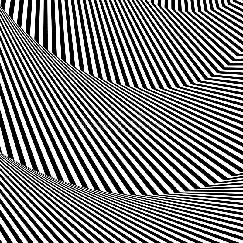 Download Волнистый, зигзаг выравнивается, выравнивается с искажением, заломом Monochrome PA Иллюстрация вектора - иллюстрации насчитывающей lineal, искажение: 81812161