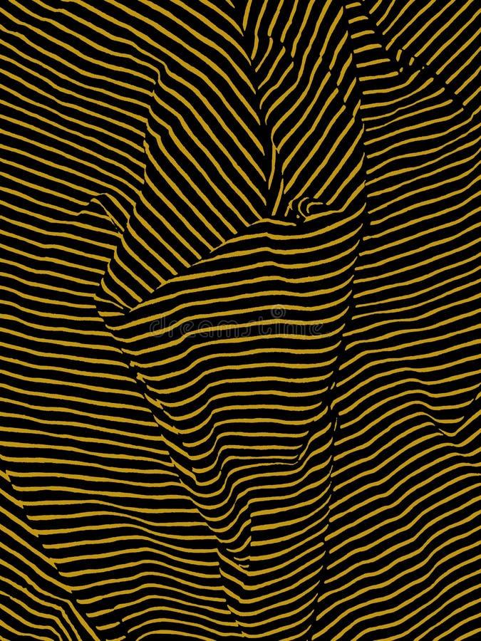 Волнистый Striped конспект стоковая фотография