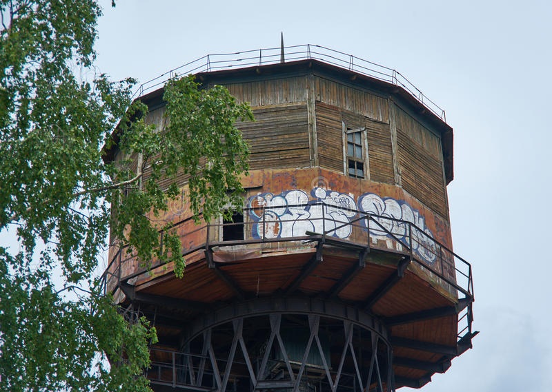Водонапорная башня Shukhov Borisov, Беларусь стоковые фото