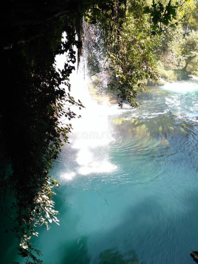 Водопад вертепа ¼ DÃ в Анталье стоковые изображения rf