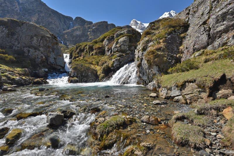 Водопад весны на плато Maillet стоковые изображения