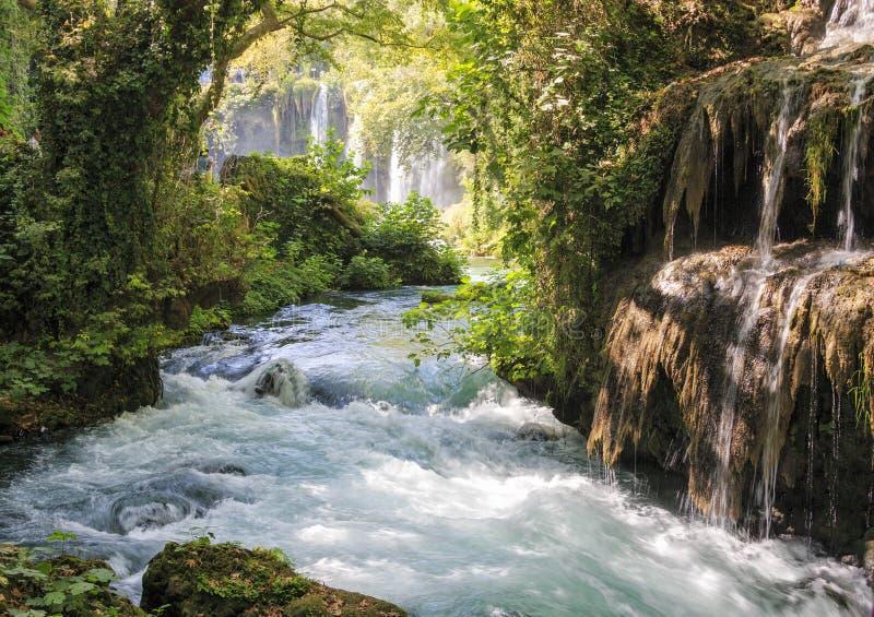 Водопад в Анталье стоковые фотографии rf