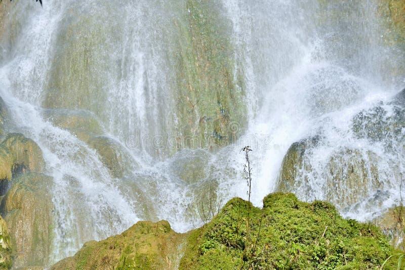 Водопад в водопадах или каскадах сочного тропического леса красивых в El Nicho стоковое фото