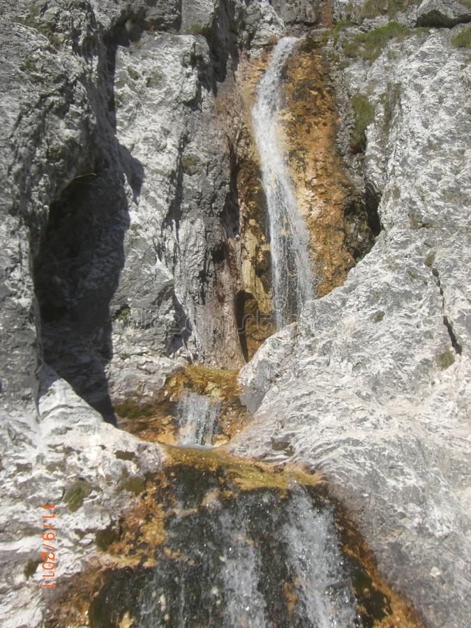 Водопад в доломитах стоковое фото