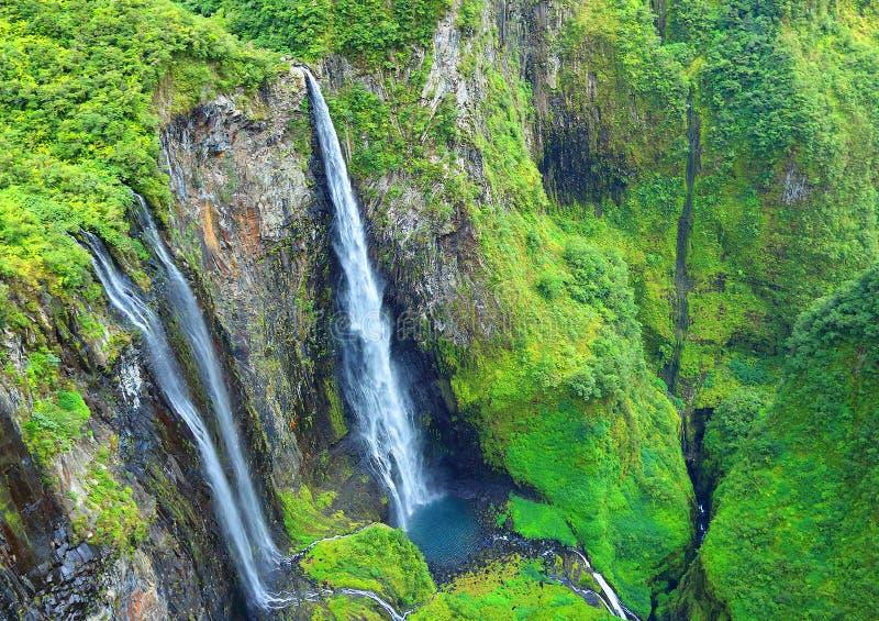 Водопад в тропическом лесе стоковое изображение rf