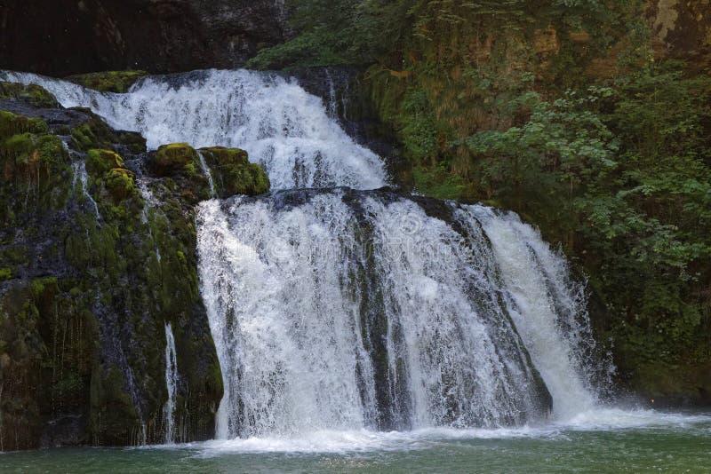 Водопад источника реки Lison стоковая фотография