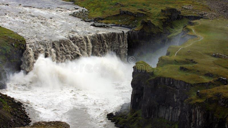 водопад Исландии dettifoss стоковые изображения