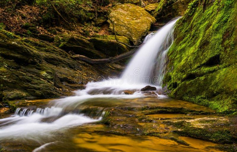 Водопад и каскады на потоке в Holtwood, Пенсильвании стоковая фотография