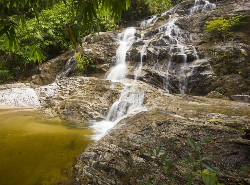 Водопад национального парка Джохора, Малайзия стоковая фотография