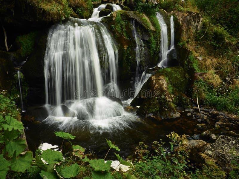 Водопад на горячий летний день стоковое изображение rf