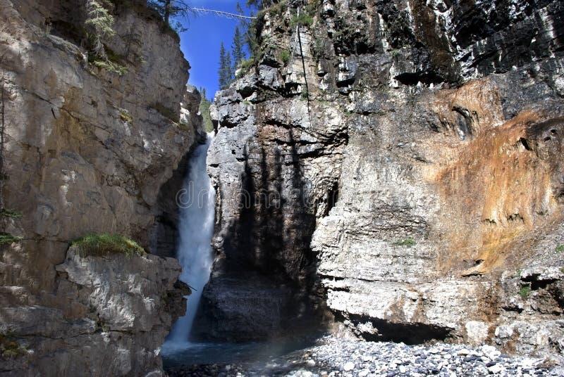 - Водопад на каньоне Banff Johnston стоковые изображения