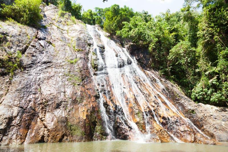 Водопад на Koh Samui стоковые фотографии rf