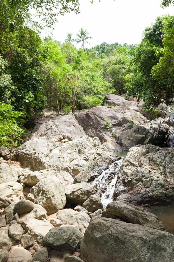 Водопад на Koh Samui стоковые изображения rf