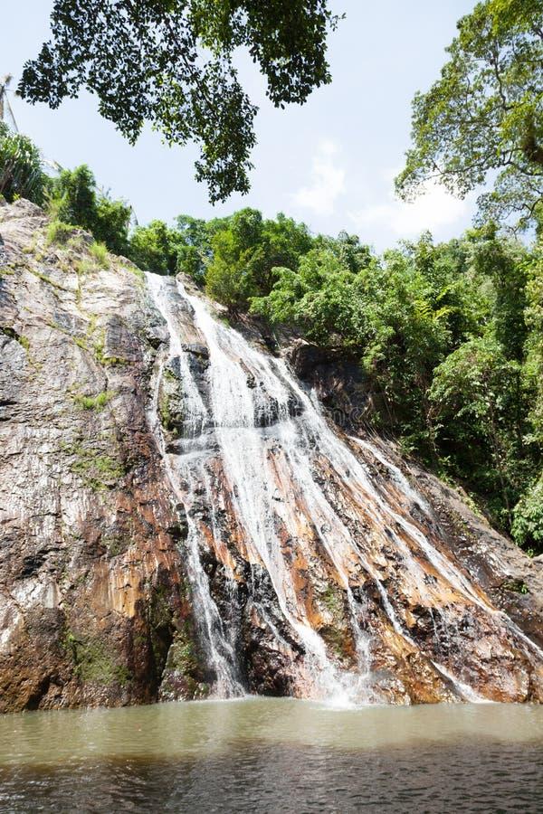 Водопад на Koh Samui стоковая фотография