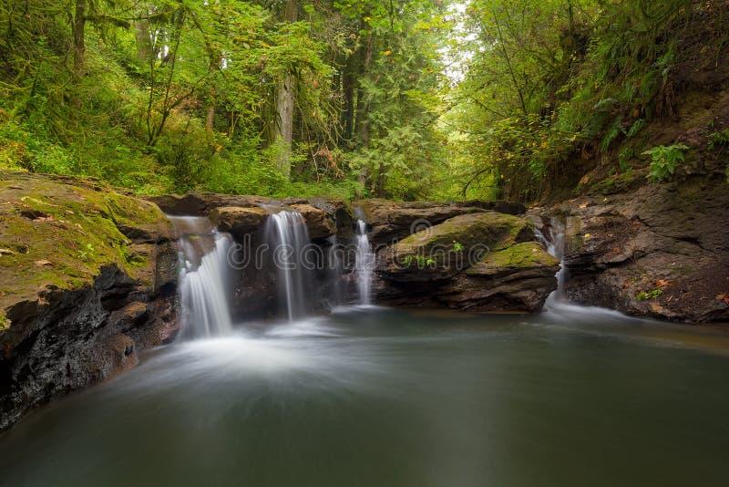 Водопад на Rock Creek Орегоне стоковое фото rf