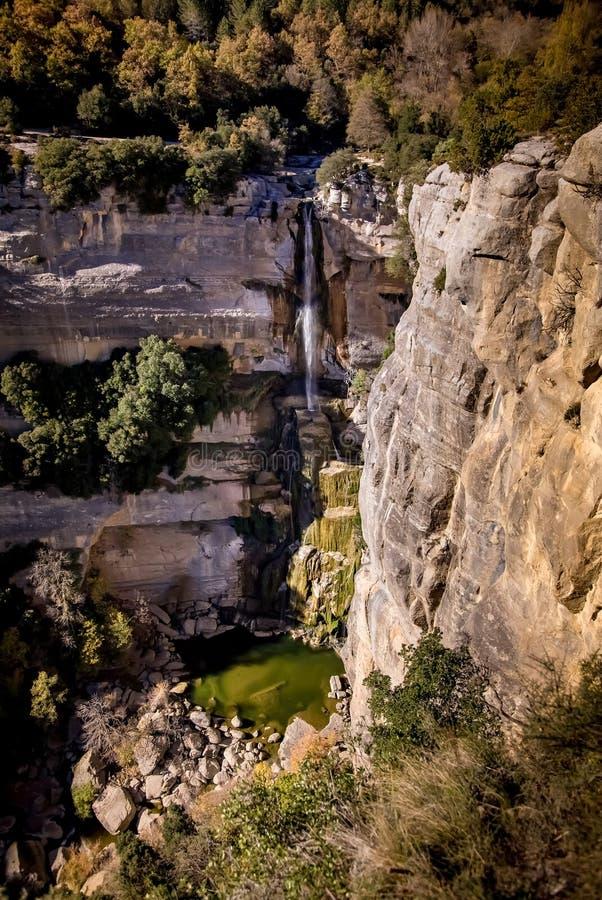 водопад соли de sallent стоковые изображения