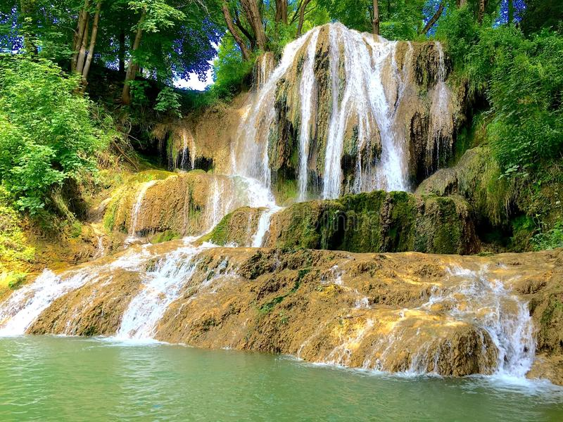 Водопад, удачливый, Словакия стоковые фотографии rf