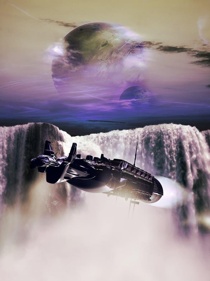Водопад чужеземца иллюстрация штока