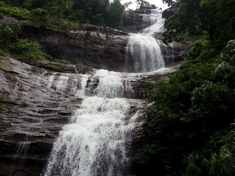 Водопады Кералы естественные стоковая фотография rf