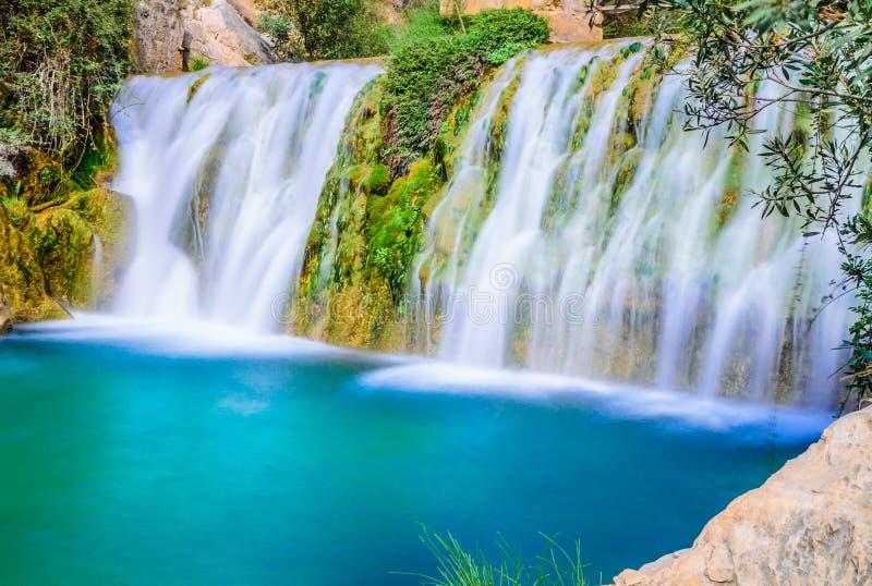 Водопады algar (Fuente de Algar) стоковые изображения rf