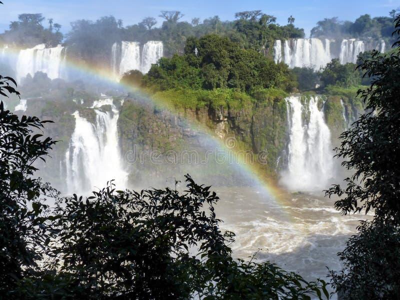 Водопады Iguazu на границе Бразилии и Аргентины стоковая фотография