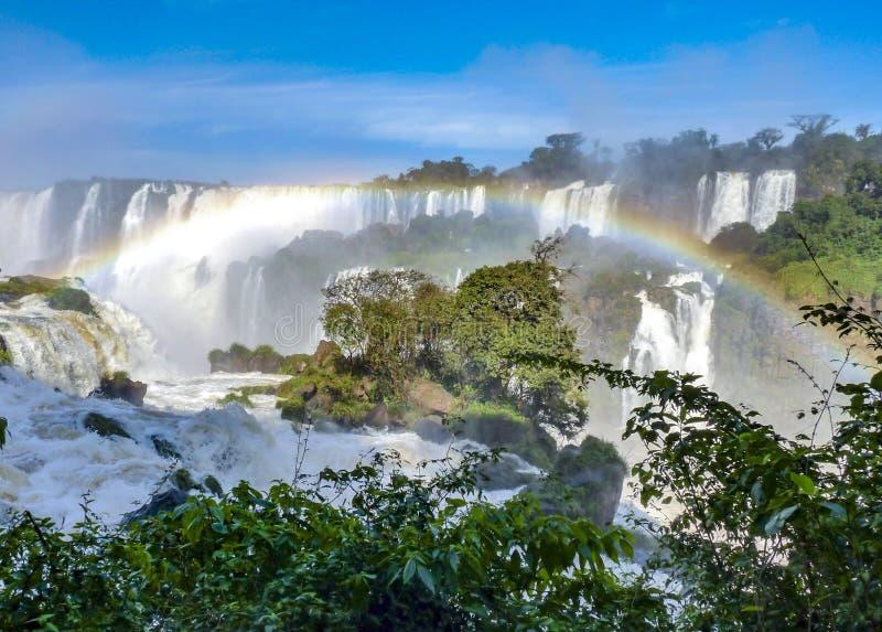 Водопады Iguazu на границе Бразилии и Аргентины стоковые фото