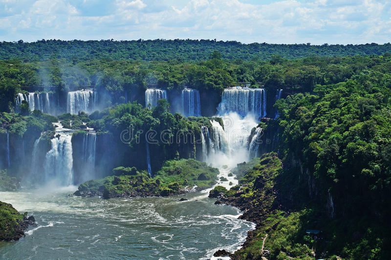 Водопады Iguazu, Misiones, Аргентина стоковое изображение