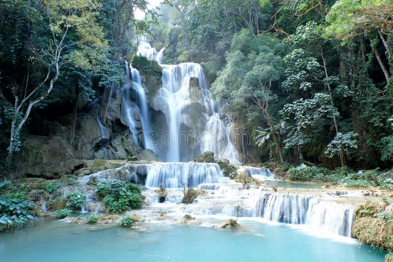 Водопады Kouang XI стоковое фото rf
