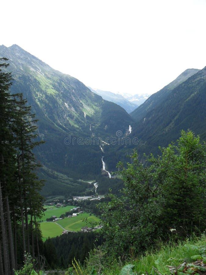 Водопады Krimmler, Австрия стоковое фото rf