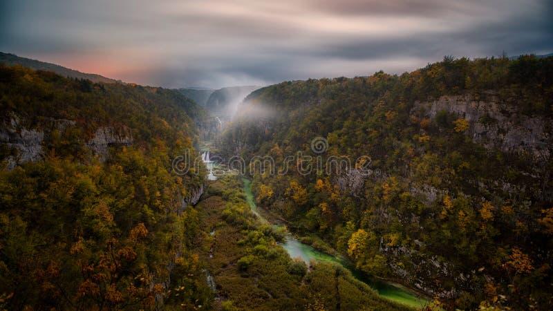 водопады plitvice национального парка озер Хорватии sostavtsy стоковые изображения rf