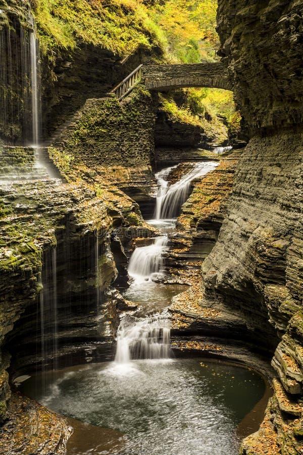 Водопады Watkins Глена стоковые фотографии rf