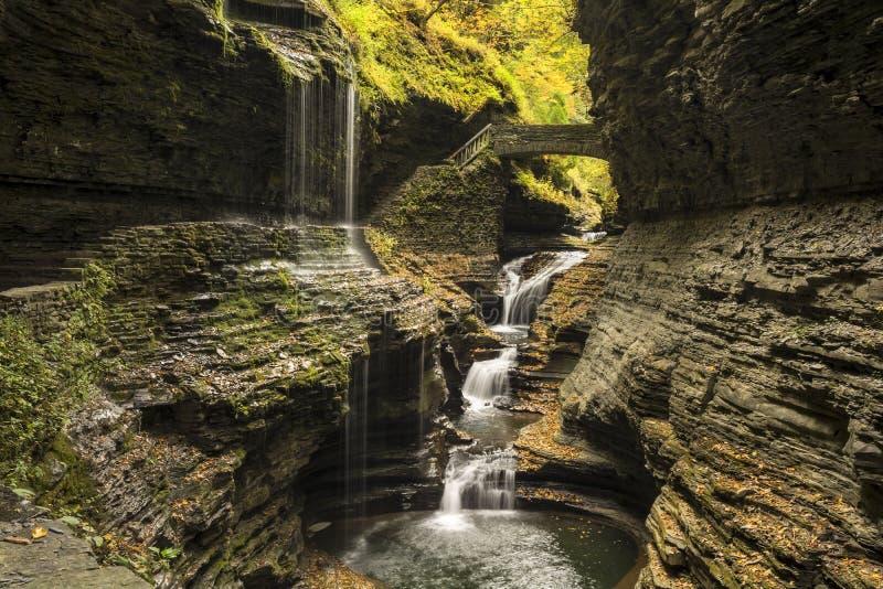 Водопады Watkins Глена стоковое изображение rf