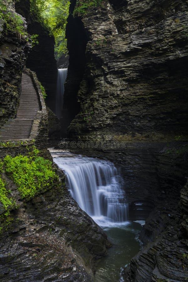 Водопады Watkins Глена стоковые изображения