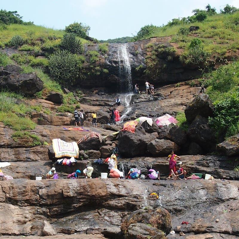 Водопад Bhaja стоковое изображение