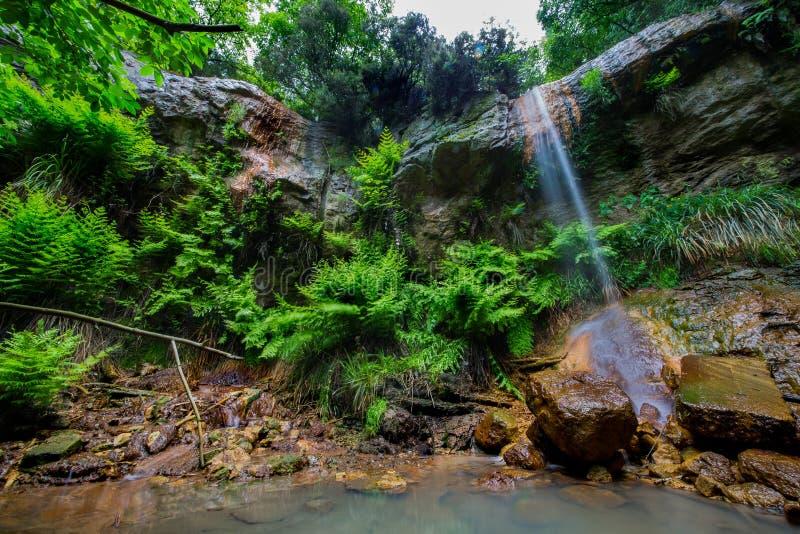 Водопад Canale Monterano стоковая фотография