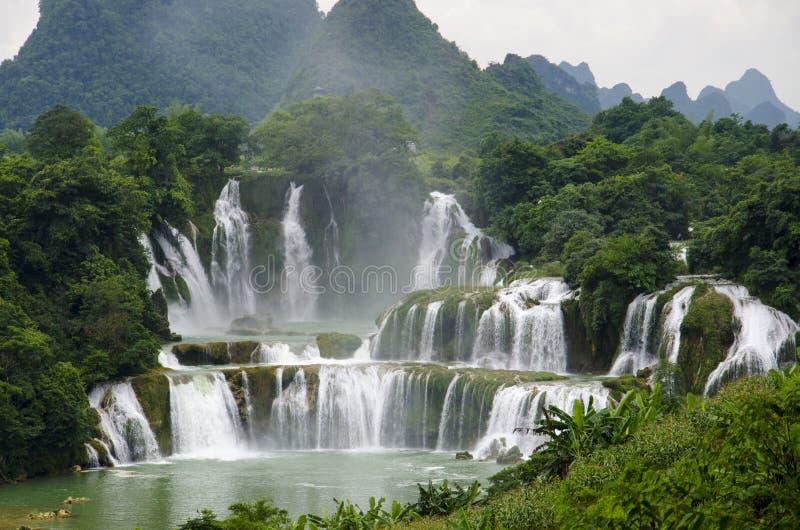 Водопад Detian стоковая фотография rf