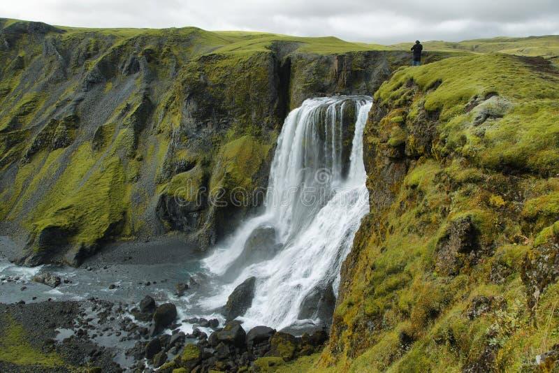 Водопад Fagrifoss стоковое изображение